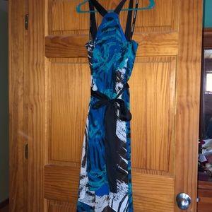Colorful flowy dress